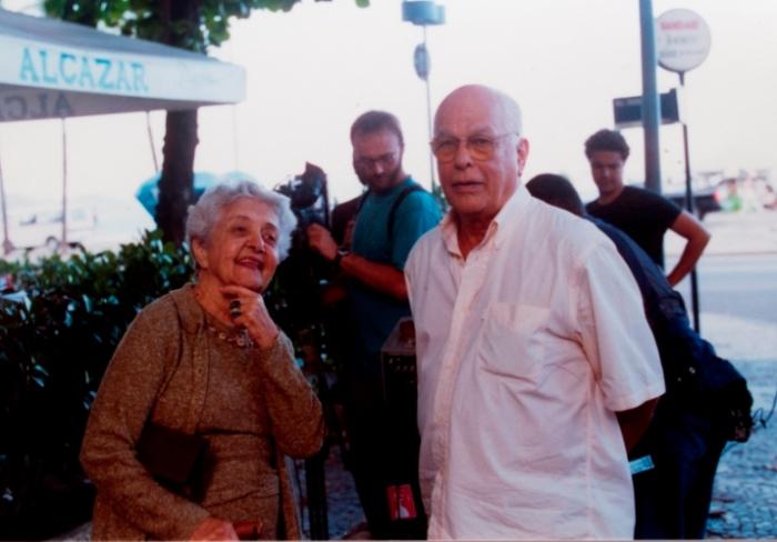 Nelson com Maria Amélia Buarque de Holanda